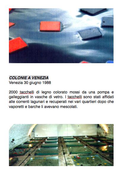 Salvatore Falci, 1988, Colonie a Venezia, Venezia 30 giugno 1988, scheda