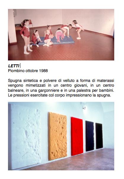 Salvatore Falci, 1988, Letti, Piombino, ottobre 1988, scheda