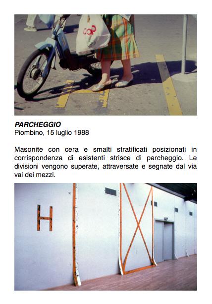 Salvatore Falci, 1988, Parcheggio, Piombino,15 luglio 1988, scheda