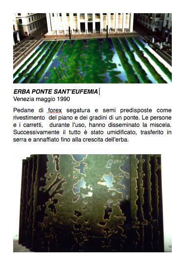 Salvatore Falci, 1990, Erba ponte Sant'Eufemia, Venezia, maggio 1990, scheda