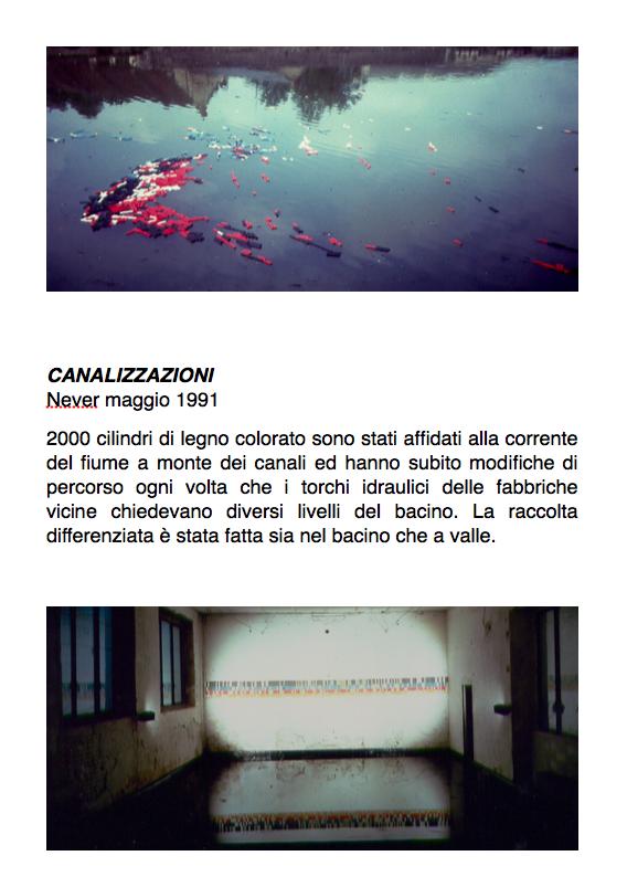 Salvatore Falci, 1991, Canalizzazioni Never, maggio 1991, scheda