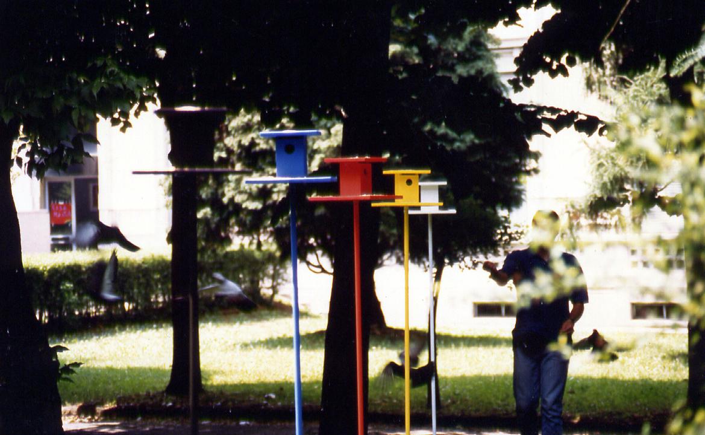 Salvatore Falci, 1997, Gabbiette, Ospedale Paolo Pini, Milano