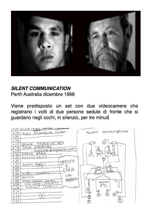 Salvatore Falci, 1998, Silent Communication, scheda