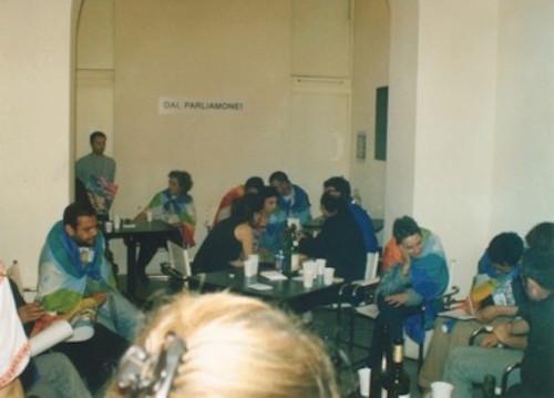 Salvatore Falci, 2003, Dai Parliamone, Performance, Galleria Aliceealtrilavoriincorso, Roma, nov.2003