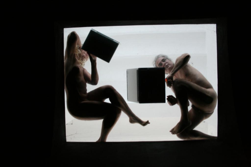 Salvatore Falci, 2009, Abbastanza bene ma.., Foto da Oblo',Fondazione Mudima, Milano, (con simona Barzaghi)