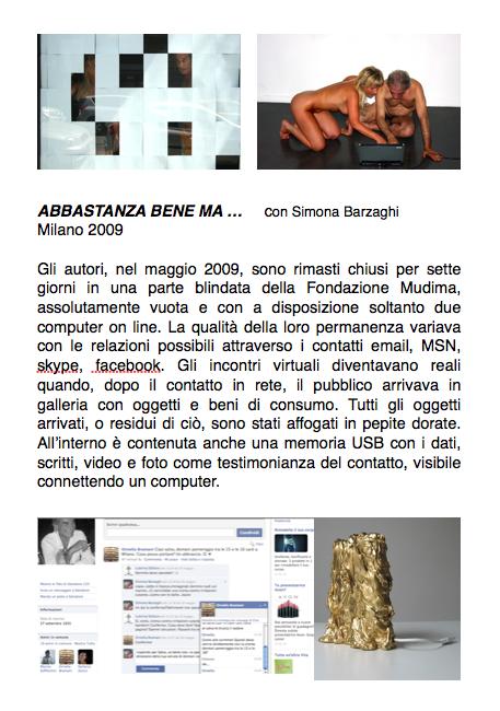 Salvatore Falci, 2009, Abbastanza bene ma... , scheda