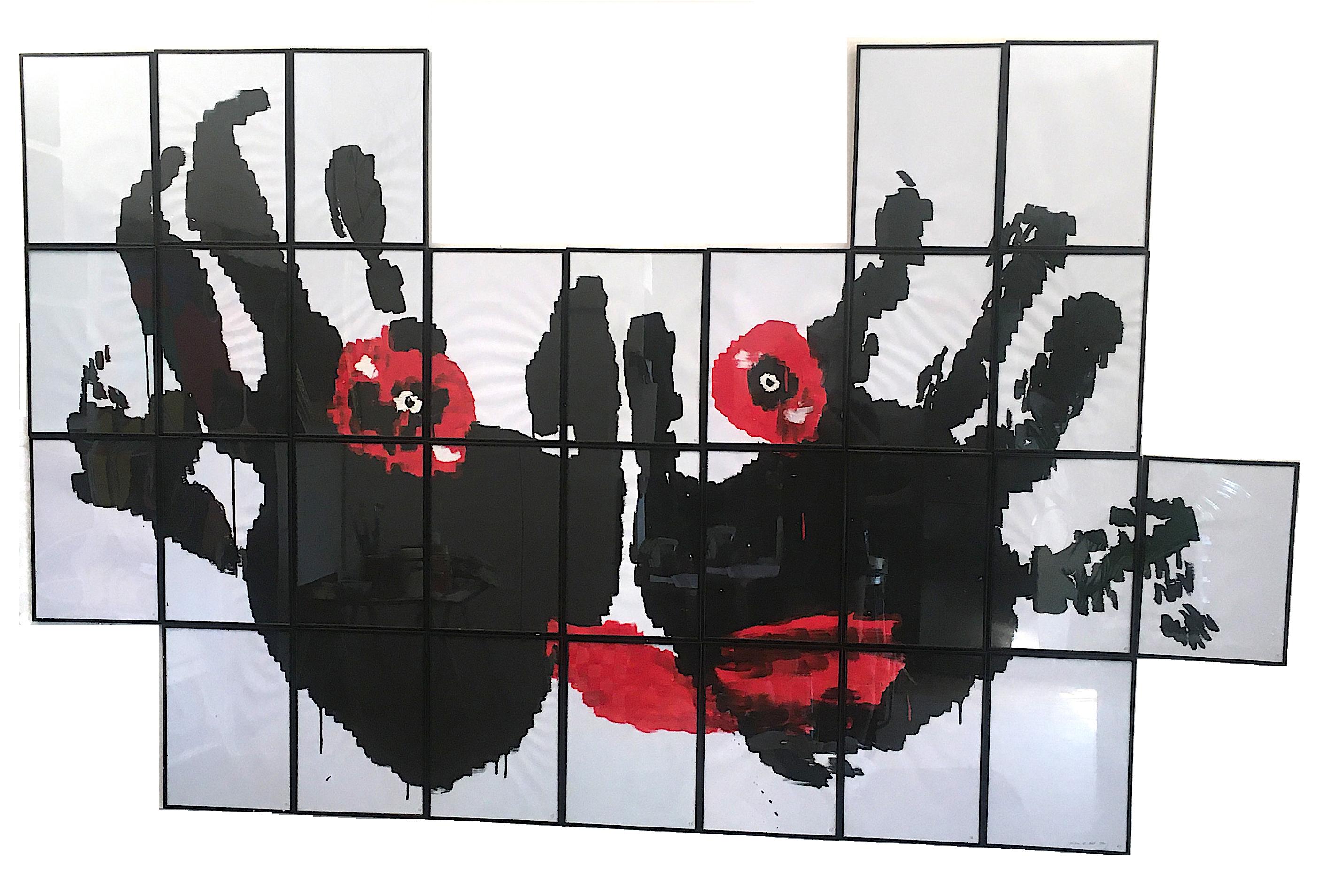 Salvatore Falci, 2012, Effetto Canova, Il Mostro di Joel, tempera su carta, cm. 200x120