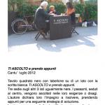 Salvatore Falci, 2012, Ti ascolto e prendo appunti, scheda.