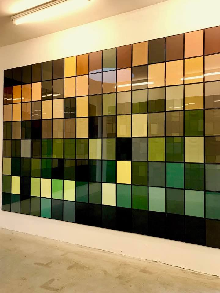 Salvatore Falci, 2013, Leonardo algoritmo 128, galleria Monopoli, Milano, 2017