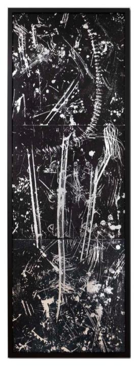 Salvatore Falci, 2019 - 1987, Pavimento Argento Verniciatura Stillegno (Moduli 1-2-3) cm. 70x210
