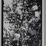 Salvatore Falci, 2019 - 1987, Pavimento Argento Verniciatura Stillegno,masonite, foglia d'argento, cera, smalto, cm. 140 x 70