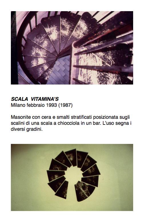 Salvatore Falci, 1987 - 1993, Scala Vitamina's, Milano, febbraio 1993, scheda