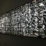 Salvatore Falci, 1987 - 2013, Vetro Parole Che, opalina, cera, vernice e led. ( con Anonimo), installazione domestica