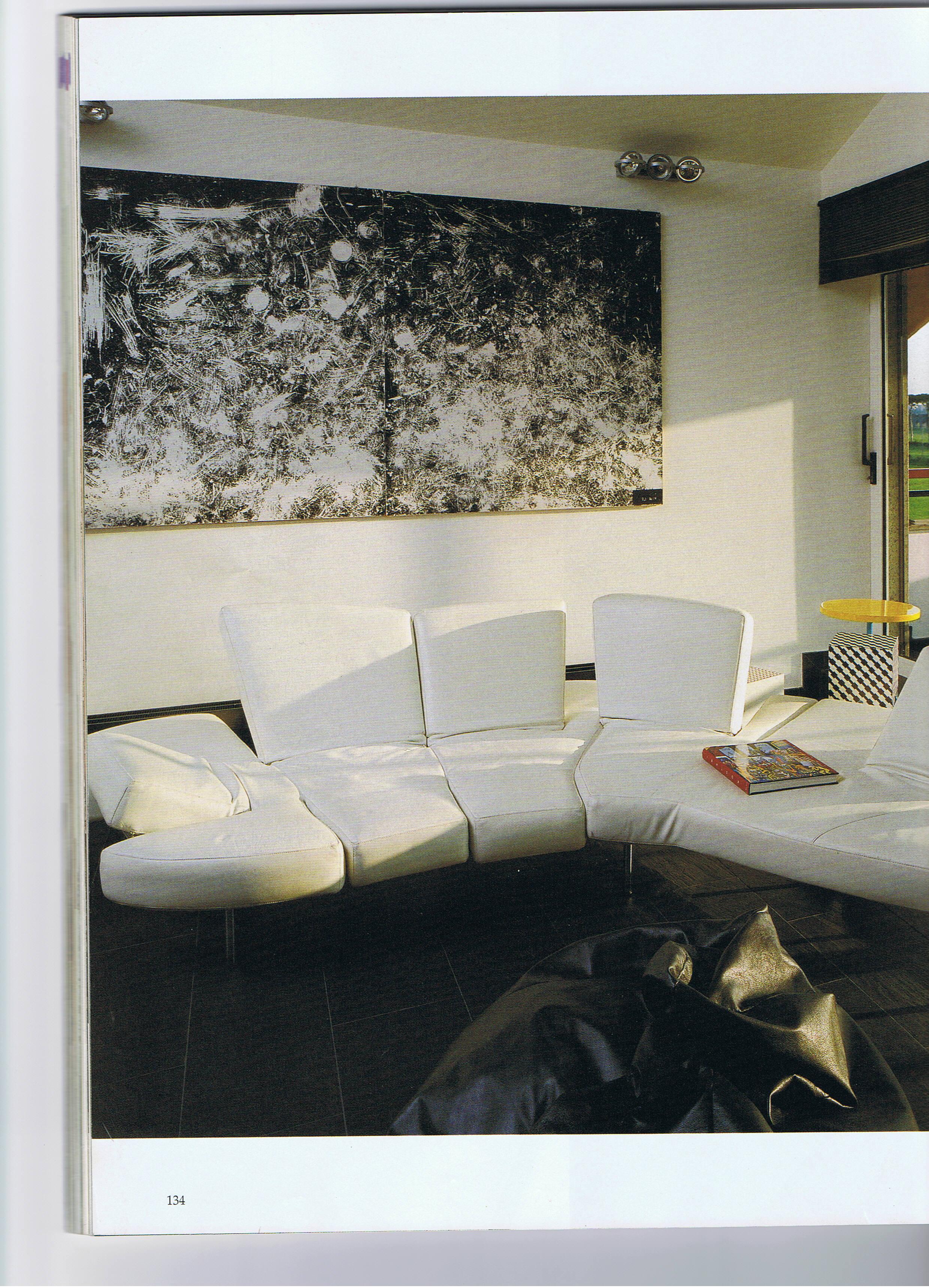 Salvatore Falci, 1987, Pavimento A.T.M. b:n, collezione privata Roma