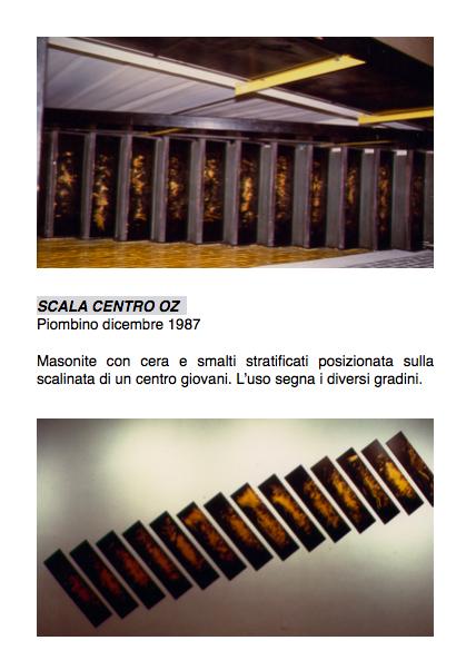 Salvatore Falci, 1987, Scala Centro Oz, Piombino, dicembre 1987, scheda