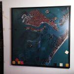 Salvatore Falci, 1988, Colonie a Venezia, istallazione a parete