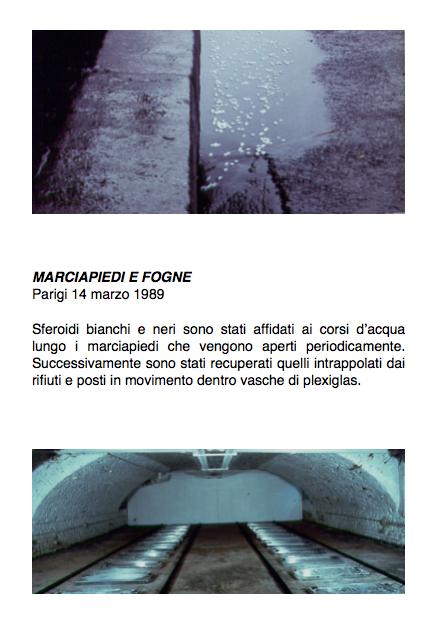 Salvatore Falci, 1989, Marciapiede e Fogne, Parigi,14 marzo 1989, scheda