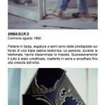 Salvatore Falci, 1992, Erba S.I.P. 3, Cremona, agosto 1992, scheda