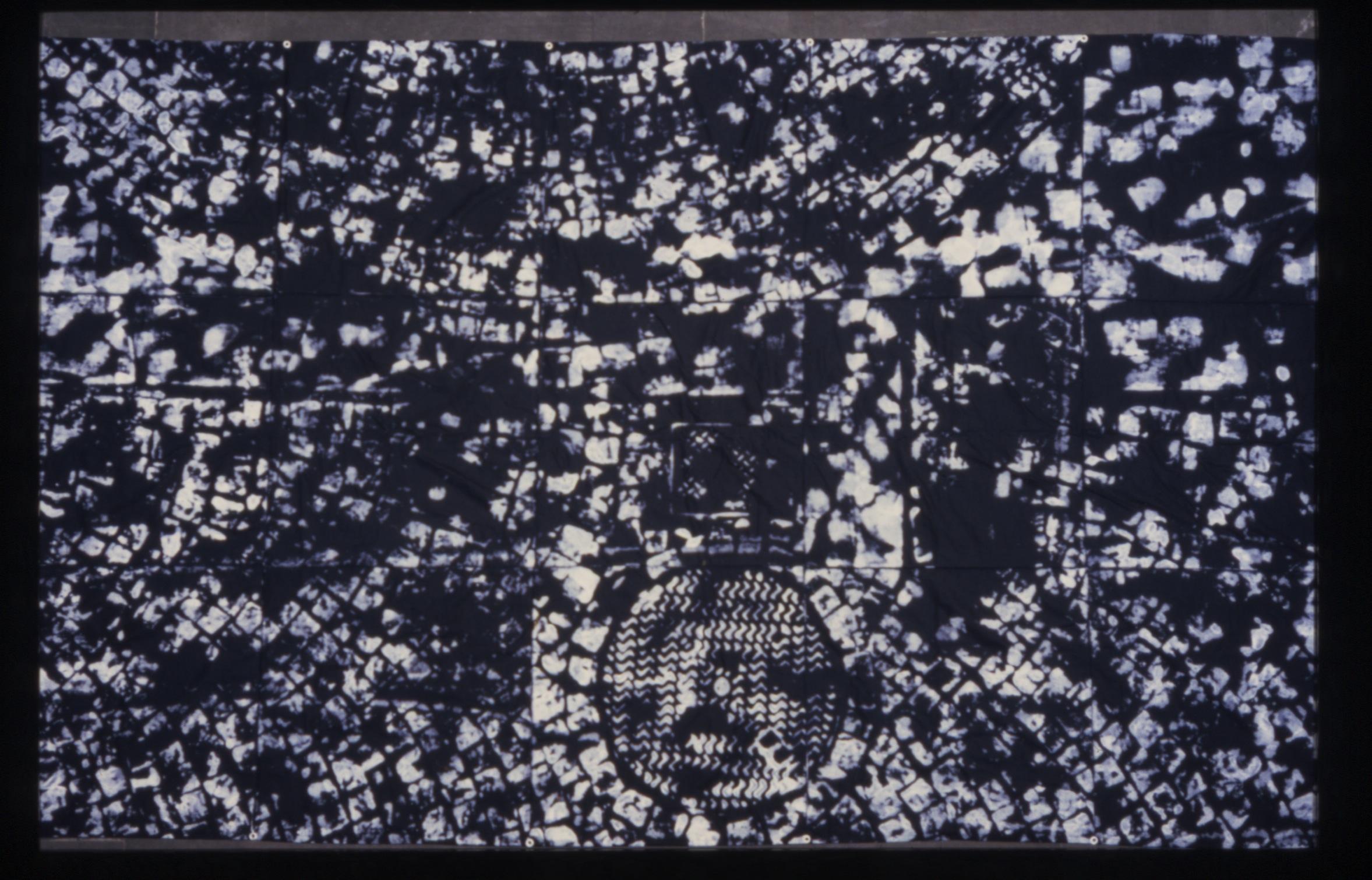 Salvatore Falci, 1994, Striscioni Pressione Piazza a Nims, cm.400x200