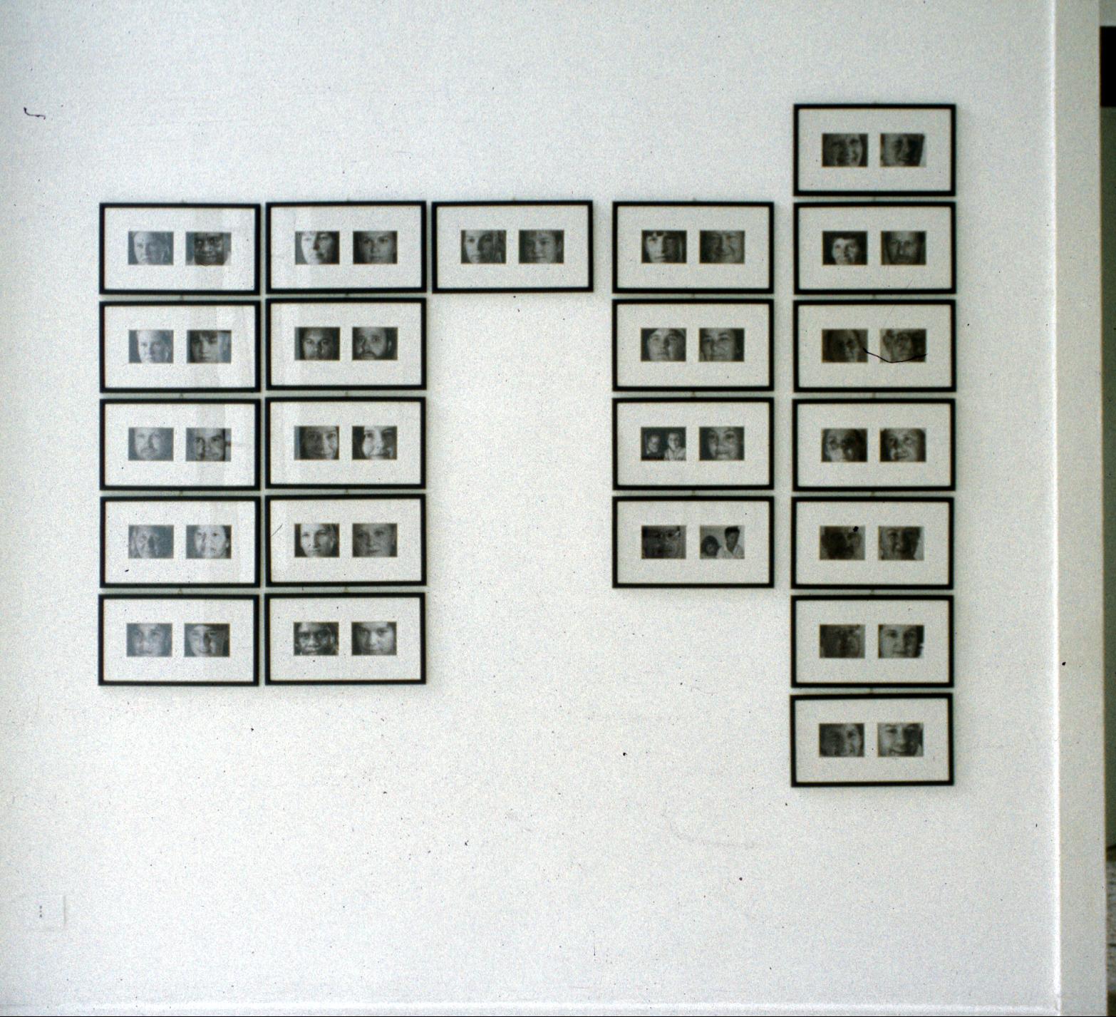 Salvatore Falci, 1998, Silent Communication, foto Aborigeni e Anglosassoni, Galleria Casoli Milano, 2000