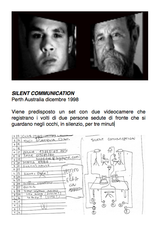 Salvatore Falci, 1998, Silent Communication, scheda