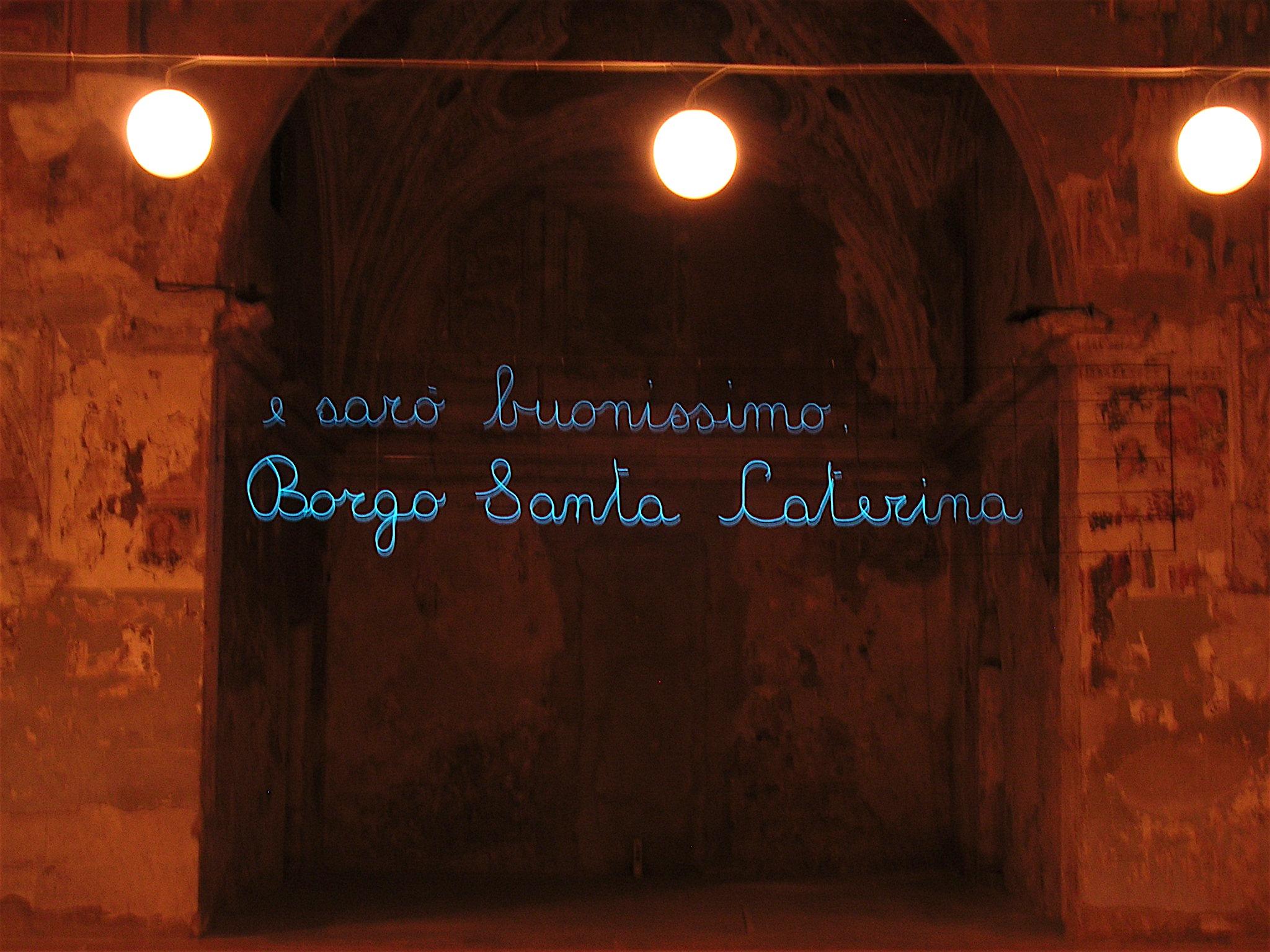 Salvatore Falci, 2004, E sarò buonissimo, progetto per Borgo Santa Caterina (BG)