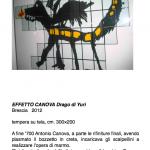 Salvatore Falci, 2012, Effetto Canova, Drago di Yuri, tempera su carta, cm. 300×200, scheda.