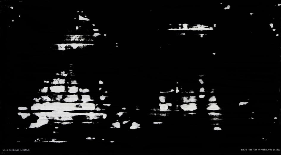Salvatore falci, 1995, Panchine, Due Donne, Villa Mimbelli, Livorno, tempera su tela, cm. 200x120.jpg
